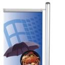 Pro-Display: вариант стойки с 1 плакатным профилем