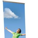 Pro-Display: Стандартный односторонний L-баннерный стенд