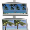 Pro-Display: вариант стойки с 2 металлическими лотками и клик-рамкой