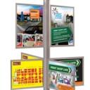 Pro-Display: вариант стойки с 6 слайд-рамками