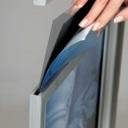 Pro-Display: изображение с защитным ПЭТом вставляется внутрь рамки